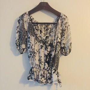 Copperkey floral sheer blouse. Size Medium